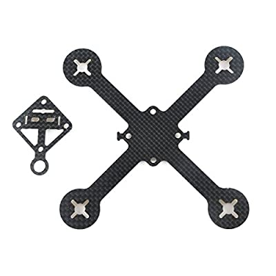 makerstack 90mm 3K Carbon Fiber Quadcopter Frame for Racing Quadcopter Micro FPV Drone by makerstack