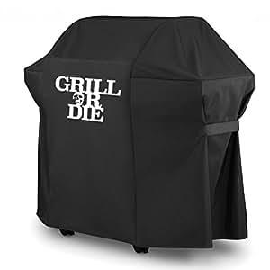 grill or die gt52 grillabdeckung f r weber spirit gasgrill schwarz mit aufdruck in premium. Black Bedroom Furniture Sets. Home Design Ideas