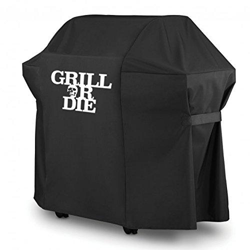 Or Die Grillabdeckung Grill per carbonella Grill & # x2605; nera con stampa in qualità Premium & # x2605; Nuovo barbecue Accessori 2016-Amazon Azione