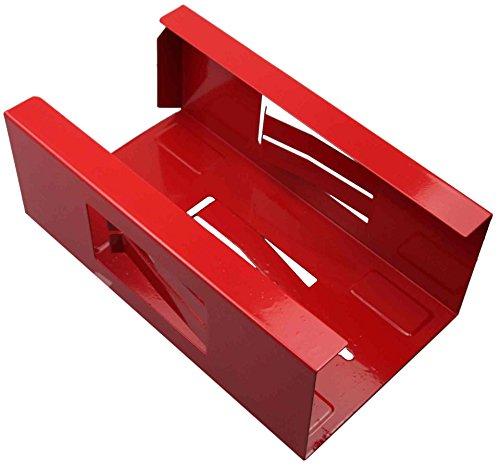 Magnetischer Halter für Einweghandschuhe und Taschentuch-Box/Handschuhhalter (Handschuhspender o. Taschentuchspender) ROT (Rot Internationale Werkzeug-boxen)