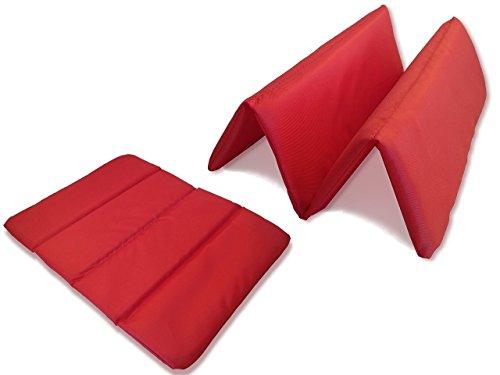 2 x Outdoor Sitzkissen Faltbar, Ultraleichte Iso-Sitzmatte klappbar, Wärme Isolierend, Wasserdicht und Wetterfest. Für Camping, Wandern oder Stadionkissen. 33x25x1 cm (2 Stück)