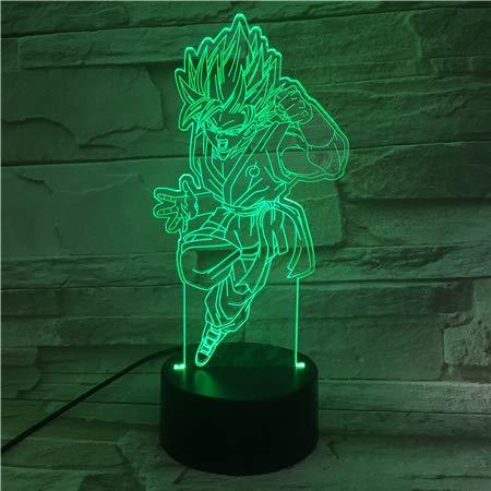 �r Kinder / 3d Illusion Nachtlicht / 3d Optische Täuschung Tischlampe / 7 Farblicht/weihnachten Halloween Geschenk/Dragon Ball Anime ()
