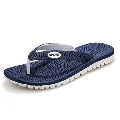 Herren Schuhe Casual synthetische Hausschuhe, Schwarz/Blau/Weiss/Grau Blau