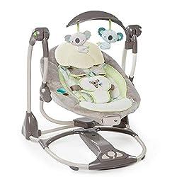 Baby-Schaukel Schaukelwippe mit Mobile all Kids United Elektrische Babywippe Deluxe Fernbedienung extra Schaukelstuhl