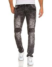 BLZ jeans - Jean homme gris street déchiré nervuré