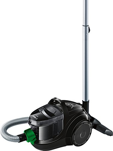Bosch BGS1UECO2 GS10 ProEnergy Aspirador sin bolsa, ultracompacto, 550 W, 1.4 litros, negro y verde