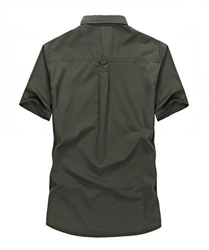 Afs Jeep Herren Freizeit-Hemd grün armee-grün 661 Armee-Grün