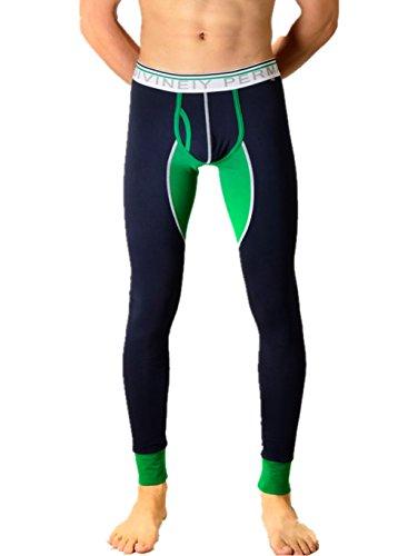 Herren Low-Rise Long John Thermo Unterhosen Lange Unterwäsche Thermounterwäsche (XL, Marine) (Gruppe Von 5 Kostüm Ideen)