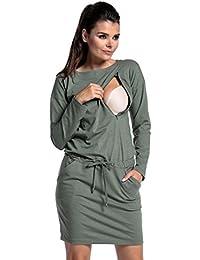 Zeta Ville - Premamá vestido de túnica sudadera de lactancia mangas larga - 709c