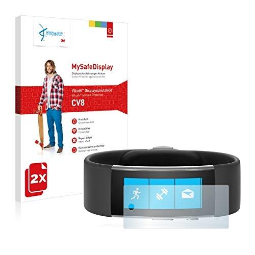 2x Vikuiti MySafeDisplay CV8 Displayschutz Schutzfolie für Microsoft Band 2 (Ultraklar, strak haftend, versiegelt Kratzer)