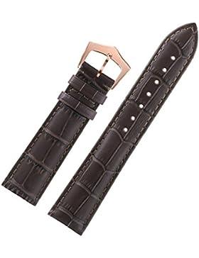 15mm einfache tiefbraune Ledergürtel für Uhren deluxe Rind italienischen Leder Krokodil Gold Verschluss geprägt...
