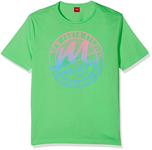 s.Oliver Jungen T-Shirt 61.804.32.5112, Grün (Light Green 7303), 164 (Herstellergröße: L/REG)