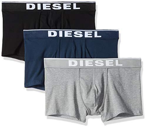 Diesel Herren UMBX-damienthreepack Boxershorts, Mehrfarbig (Grey/Blue/Black E4125), Medium (erPack 3