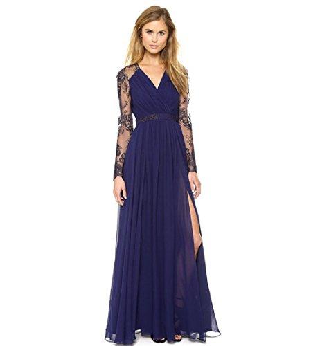 Xizi Frauen Tiefer V-Ausschnitt Sequin Glitzer Mini Party Kleid Langarm Sequined Glitzy Party Mantel Kleid (1920 Kleid Verkauf Für)