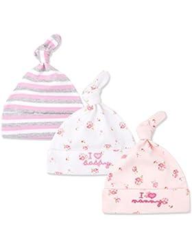 CuteOn 3 Pack Baby Beanie Knoten Hut Neugeboren Jungen Mädchen Baumwolle Einstellbar Kappe zum Baby 0-6 Monate