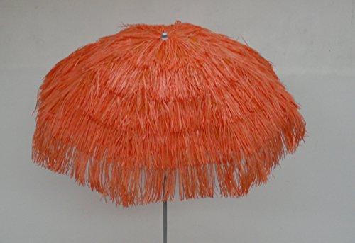 Maffei art 6 kenia, ombrellone rotondo diametro cm 200, ricoperto con rafia, made in italy. colore arancio