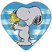 Lata Corazón Snoopy Amarilla - Bombones de chocolate con leche - 100 Gr - Especial San