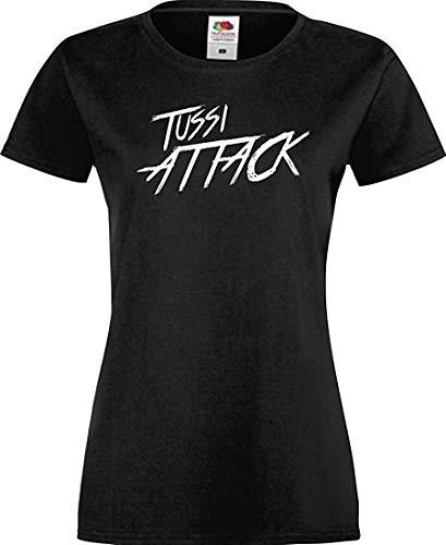 Shirtinstyle Lady T-Shirt Tussi Attack,schwarz, XS
