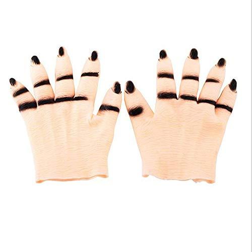 TYUBN Halloween Ghost Handschuhe Scary Cosplay Halloween Requisiten Kostüme Maskerade Party Supplies (Scary Halloween-kostüme Günstige Clown)
