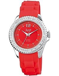 Just Watches Damen-Armbanduhr Analog Quarz Kautschuk 48-S3859-RD