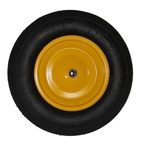 Preisvergleich Produktbild Ersatzrad gelb 4, 0x8 Rad für Limex Schubkarre Gartenkarre Baukarre ***NEU***