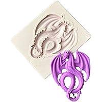 IDEA - Molde de silicona para repostería con diseño de dragón ...