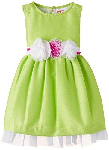 Baby League Baby Girls' Dress (BLS15I72023_Neon Green_18-24 months)