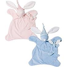 North American Bear Sleepyhead Cozy, Bunny Blue & Pink