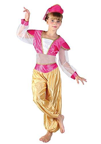 Fiori paolo principessa araba jasmine costume bambina, rosa, l (7-9 anni), 61202.l