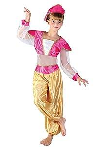FIORI PAOLO- Disfraz de niñaPrincesa árabe Jasmine M (5-7 anni) Rosa