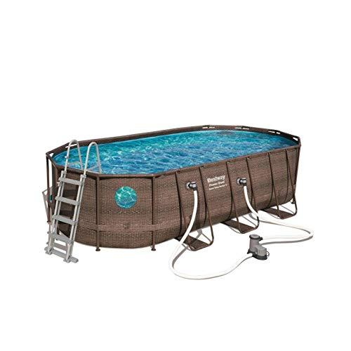 Bestway Power Steel Swim Vue Series Oval Pools, Brown