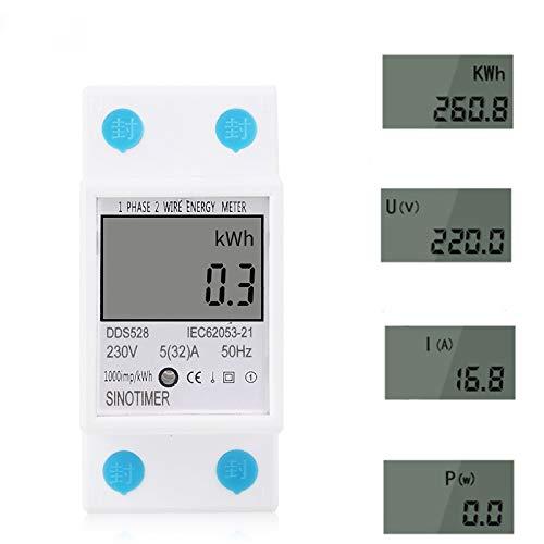 Tutoy Dds528 LCD Display Digitale Misuratore di Energia 230V AC 50Hz Consumo di Energia Kwh Meter Monofase Energy Meter Watt Wattmeter