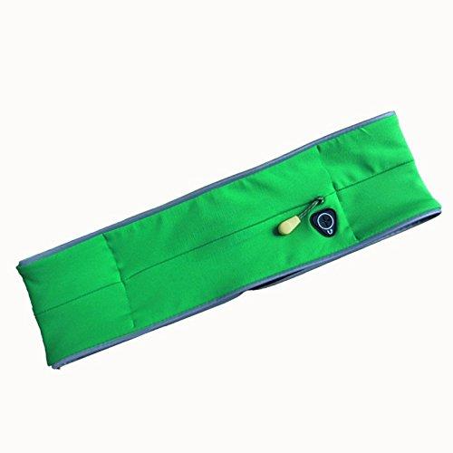 Esterno Multifunzionale Sport Borsa Del Telefono Mobile Con Cintura Da Jogging, Verde Erba wathet