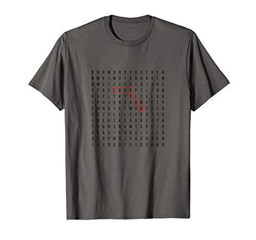 Valentine Crossword puzzle LOVE YOU clue T-Shirt