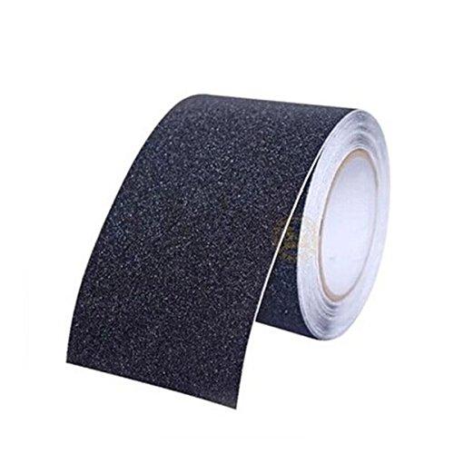 Pixnor Anti-Rutsch-Grip Tape für Treppen (15 cm x 5 M , schwarz) -