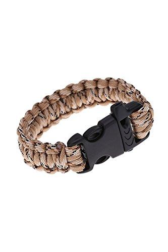 TOOGOO(R)Paracord Fallschirm-Schnur notfallmaessig Ausstattung ueberleben Armband Seil mit Pfeife Schnalle fuer Outdoor Camping Camo-2 (Camo Pfeife)