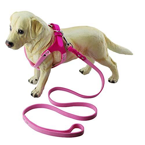 Jksdp Mikrofaser-Brillen-Art-Breathable Hundebrustgurt, Größe: L, Haustier-Versorgungsmaterial-Welpen-Brustwesten-Bügel Dauerhaft (Farbe : Magenta)