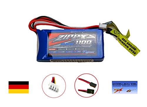 Zippy FlightMax 1100mAh 6.6V LiFePO4 2s Empfänger Receiver Akku Pack Empfängerakku Ersatz für NiCD und NiMh Akkus von Modellbau Eibl