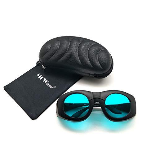 MCWlaser OD7 + Gafas Protectoras de Seguridad láser Gafas Tipo de absorción Continua de Amplio Espectro para 808 NM 980 NM 1064 NM (680-1100 NM) EP-15 Gafas para miopía EP-15