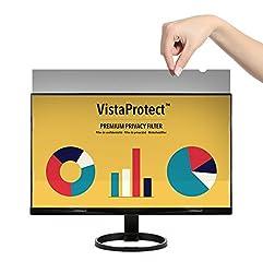 Vistaprotect – Premium Blickschutzfilter, Privacy Filter & Blickschutzfolie Für Computermonitore (21.5″ Zoll)