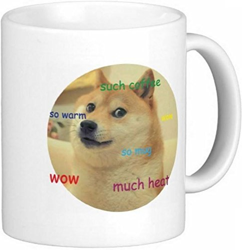 Coffee Ceramic Mug 11 2 Oz Mugs Wow Doge Such Quick U By rdxeCoWB