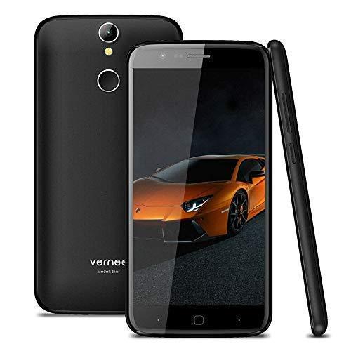 Smartphone Ohne Vertrag, Vernee Thor Dual SIM 4G Handy, 3GB RAM 16GB ROM, 13MP Haupt / 5MP Frontkamera, mit 5 Zoll HD Bildschirm, Android 7.0, MTK6753 Octa-Core, Fingerabdruck Entsperren (schwarz)