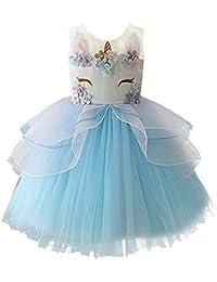 Vestidos de kinder azul turquesa