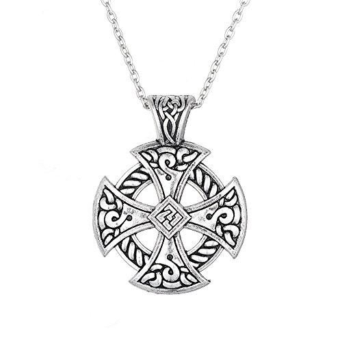 Collar con Colgante de Cruz Celta de Amuleto y talismán de Amuleto