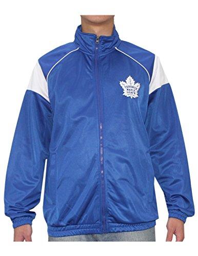 NHL Toronto Maple Leafs Veste de survêtement athlétique avec fermeture éclair pour homme Bleu
