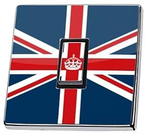 Keep Calm and Carry On Drapeau britannique Sticker en vinyle pour interrupteur Motif clair de peau en