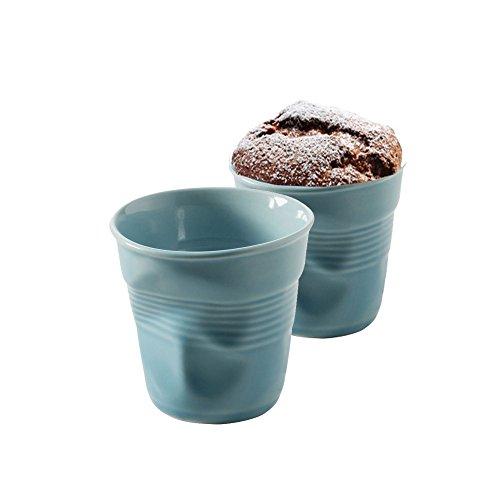 Revol Set de 2 - Gobelet froissé expresso porcelaine