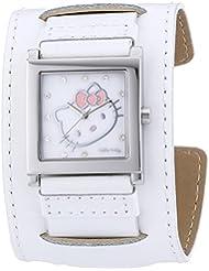 Hello Kitty Mädchen-Armbanduhr Hyuga White Analog Quarz Leder HK1774-141