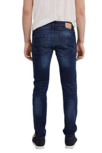 edc by ESPRIT Herren Jeanshose Blau (Blue Dark Wash 901)