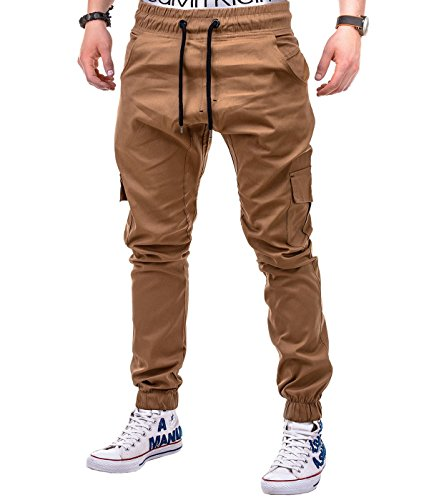 BetterStylz-MasonBZ-Cargo-Chino-Jogger-Hose-Cargotaschen-Army-Style-Camo-Trainingshose-8-Farben-S-3XL